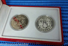 1991 Singapore Civil Defence $5 Cupro-Nickel Proof-Like & Silver Proof Coin Set
