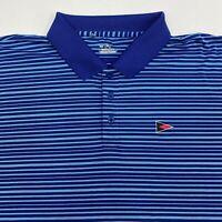 Under Armour Heatgear Polo Shirt Men's Size 2XL XXL Short Sleeve Blue Striped