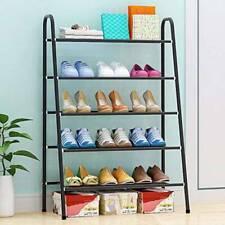 DIY Schuhregal Schuhschrank Schuhablage Schuhständer Metall Standregal 5 Ebenen