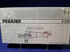 1/72 Airco DH2, Pegasus and Revell; TWO KITS. WW1 British Fighter