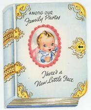 New ListingVintage Family Photos New Baby Birth Announcement Cute Greeting Card Art Print