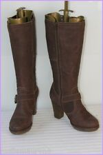 Bottes Cuir Marron Bouts Ronds T 37 BE