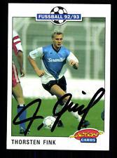 Thorsten Fink Wattenscheid 09 Panini Card 1992-93 Original Signiert +A99007