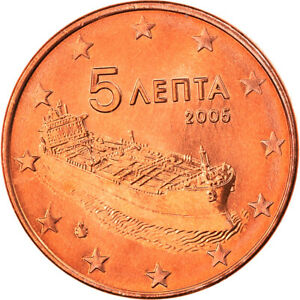 [#819931] Grèce, 5 Euro Cent, 2005, Athènes, FDC, Copper Plated Steel, KM:183