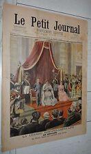PETIT JOURNAL 1898 GUERRE USA - ESPAGNE REINE REGENTE / PRISONNIERS / CARTE CUBA