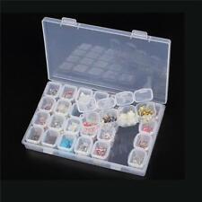 28 Slots Empty Nail Art Storage Box Rhinestone Bead Gems Stuffs Container Case G