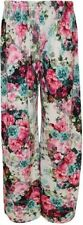 New Ladies Plus Size Flared Wide Leg Printed & Plain Parallel Palazzo Pants 8-26