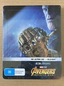Avengers Infinity War 4K Bluray Steelbook JB HIFI  Marvel MCU - Sealed Mint