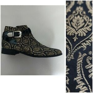 House Of Hounds Size 7  alternative clothing 41 Brocade Black Gold Boots party