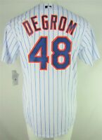 New York Mets MLB Majestic Mens #48 deGrom White Big & Tall Coolbase Team Jersey