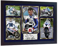 William Dunlop print photo signed poster autograph Framed