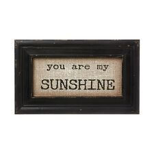 """YOU ARE MY SUNSHINE Framed Burlap Print, 12.5"""" x 7.5"""", by Collins"""