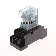 220v/240V AC Coil 4PDT Power Relay MY4NJ HH54P-L 14 Pin w PYF14A Socket Base