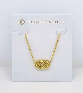 New Authentic KENDRA SCOTT Elisa Gold Silver Filigree Pendant Necklace