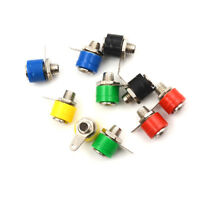 10pcs 4mm Banana Binding Post Test Probe Panel Socket Nut Plug Jack Connector RS