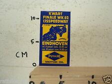 STICKER,DECAL EINDHOVEN FINALE WK 82 IJSSPEEDWAY 9 EN 10 JANUARI