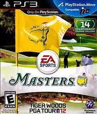 NEW SEALED - Tiger Woods PGA Tour 12: The Masters Sony PS 3 Game - FREE SHIPPING