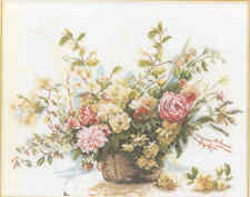 Old Lanarte cross stitch kit  34714 Bouquet of Roses OOP rare Out of Print.