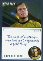 Star Trek TOS Archives & Inscriptions card 1 Captain Kirk Variation 22 out of 22