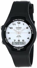 Casio AW90H-7BV Men's White Easy Reader Dial Analog Digital Dual Time Zone Watch