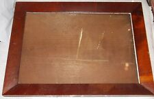 "Antique Wood 12""x16"" Frame w Glass, Board Back -- Excellent"