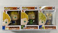 3 Funko POP Dragon Ball Z Majin Vegeta #862 Super Saiyan Goku & Gohan #860 #858