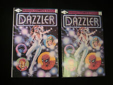 Dazzler #1 (1981 Marvel) Standard Variant And Error B&W Variant Lot of 2 Books