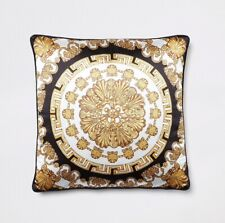 River Island: Gold Medallion Printed Cushion{One Size}