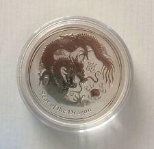 2012 Australia Lunar series II Year of the Dragon 1 oz Silver Coin