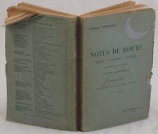 EBERHARDT NOTES DE ROUTE MAROCCO ALGERIA TUNISIA ROCHEGROSSE DINET NOIRE BONNARD