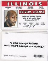 BASKETBALL GREAT drivers License fake id card