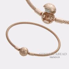 """Authentic Pandora Silver PANDORA Rose Mesh Bracelet Size 8.3""""/21cm 586543-21"""