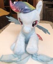 "My Little Pony Rainbow Dash Blue Plush Stuffed Animal Backpack 12"""