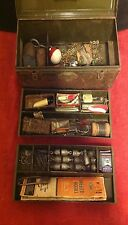 Lot Vintage Tackle Box Fishing Lures Utilco Pflueger Featherlight Reels wooden