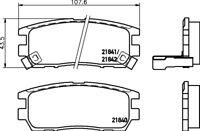 Mintex Rear Brake Pad Set MDB1646  - BRAND NEW - GENUINE - 5 YEAR WARRANTY