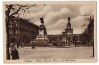 CARTOLINA - MILANO PIAZZA CAIROLI MON. A G. GARIBALDI RIF. 5747