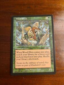 MTG Magic The Gathering Exodus Set - Wood Elves - NM