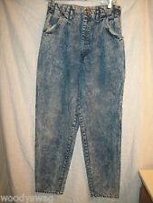 Mixed Blues Jeans Size 11 100% Cotton fray Vintage High Waist Acid or Stone Wash