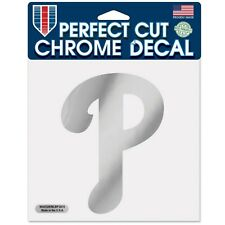 """Philadelphia Phillies MLB WinCraft 6"""" x 6"""" Chrome Decal - New in Package"""