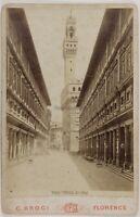Italia Florence Oficinas Foto PL17c1n27 Postal Despacho Vintage Albúmina