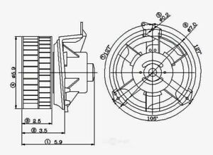 Global Parts 2311568|Premium HVAC Blower Motor Assembly|12 Month Warranty