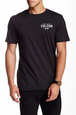 Volcom Men's Serum T-Shirt Black Printed Tee Size Medium Modern Fit NWT
