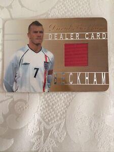 DAVID BECKHAM VERY RARE FUTERA PLATINUM ENGLAND SHIRT DEALER CARD 029 of 50 2001