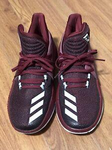 Adidas Mens Dame 3 Damian Lillard Midtop Basketball Shoes BY3192 Maroon Size 7.5