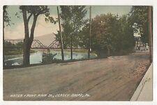 1908 Waterfront, Main Street, JERSEY SHORE PA Vintage Pennsylvania Postcard