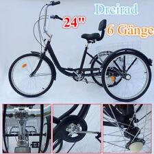 """Dreirad für Erwachsene 24"""" Erwachsenendreirad Senioren Shopping Fahrrad mit Korb"""