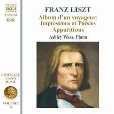 Franz Liszt : Franz Liszt: Album D'un Voyageur: Impressions Et Poesies CD