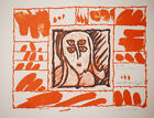 Pierre Alechinsky Lino Litho Planche I 1970 Art Print Linocut Lithograph