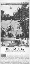 1964 Bermuda PRINT AD Nothing to do but enjoy yourself golf, beach, sailing