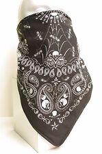 Paisley Skull Bandana fleece lined motorcycle skiing face mask